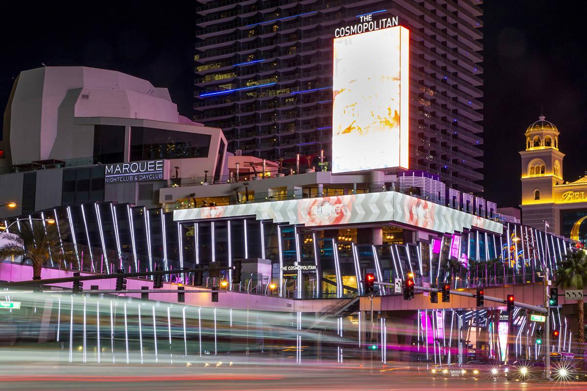 The Cosmopolitan of Las Vegas on Tuesday, March 16, 2020. (L.E. Baskow/Las Vegas Review-Journal ...