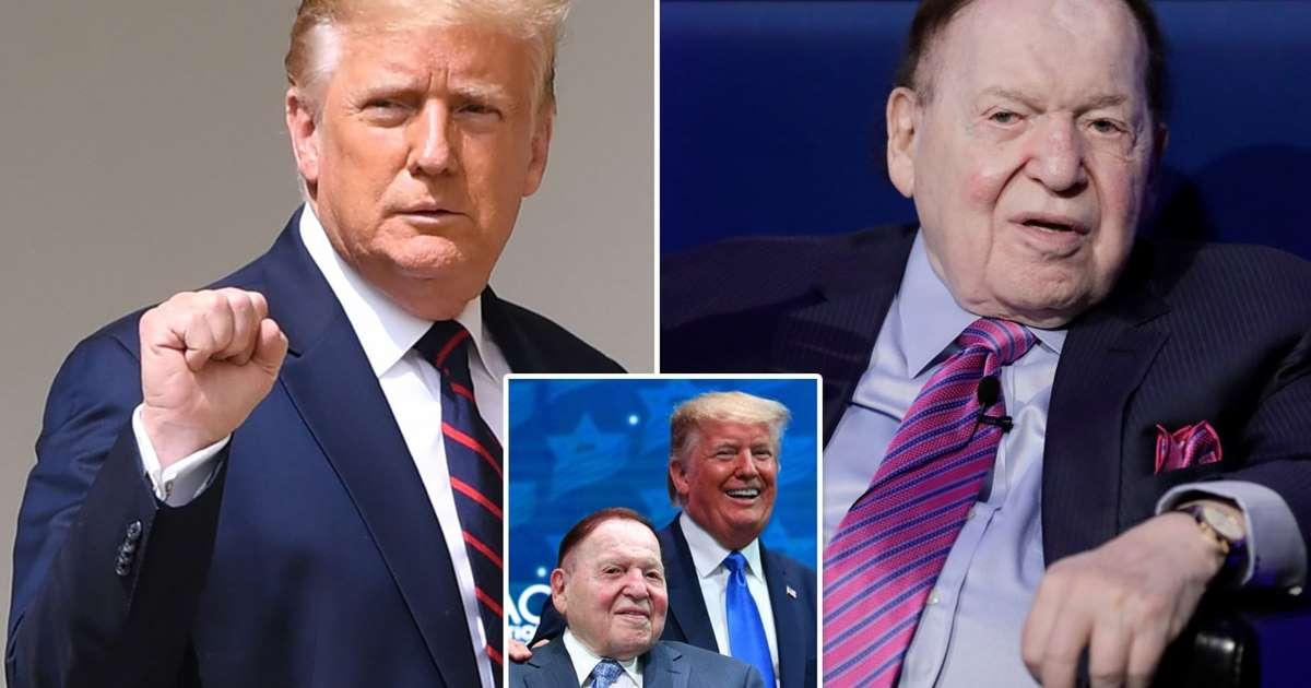 Trump yang kekurangan uang mendapat dorongan sebagai raja kasino Sheldon Adelson