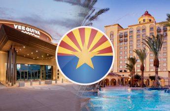 Arizona State Seal Dengan Latar Belakang Hotel Kasino