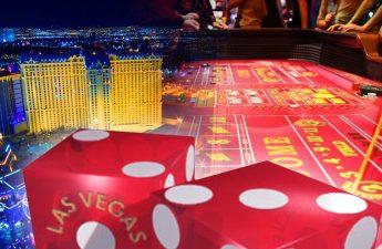 Craps Dice Dengan Las Vegas dan Latar Belakang Meja Craps