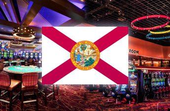 Bendera Florida Dengan Latar Belakang Kasino