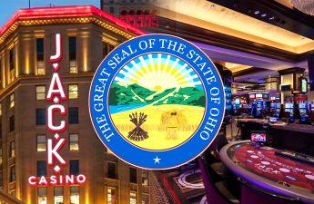 Segel Negara Bagian Ohio Dengan Latar Belakang Jack Casino